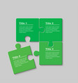 four pieces jigsaw puzzle squares info graphic vector image vector image