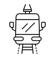front tramway icon outline style vector image