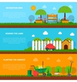 Gardening banner set vector image vector image