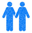 gay pair grunge icon vector image