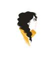 girl profile portrait vector image