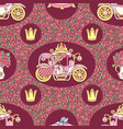 girlish seamless pattern vector image vector image