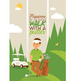 golf golfers man character in sportswear and vector image