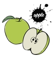 green apple fruit vector image vector image
