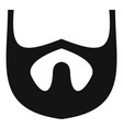 growth of beard icon simple style vector image vector image