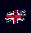 grunge textured british flag vector image