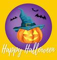 halloween background with happy halloween text vector image vector image