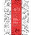 hand drawn pasta menu Vintage line art vector image vector image