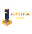 joystick logo retro joystick background ima vector image