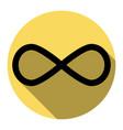 limitless symbol flat black vector image vector image