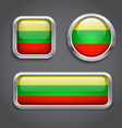 Lithuania flag glass buttons vector image