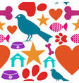 Love for pets icon seamless pattern vector image