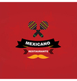 Menu mexican template design vector image vector image