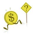 money running away from uncertainty vector image