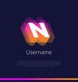 n-monogram-logo vector image vector image