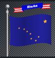 national flag of alaska vector image
