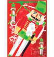 Nut cracker toy soldier vector image vector image