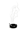 old lonely smoker vector image