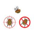 prohibition sign colorado beetles icon vector image vector image