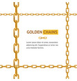 realistic 3d detailed gold chain frame vector image
