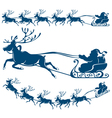 reindeer and santa claus vector image