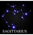 Sagittarius Zodiac Sign with Beautiful Bright vector image vector image
