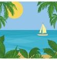 sailing ship in sea vector image vector image