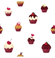 seamless cartoon cake pattern vector image vector image