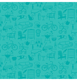 seamless pattern retro home icons vector image vector image