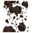 seamless pattern with decorative cow print animal vector image