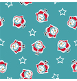 seamless pattern with santa and stars vector image vector image