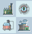 set energy technology to conservation the planet vector image vector image