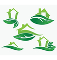 Set of ecological city and homes vector | Price: 1 Credit (USD $1)