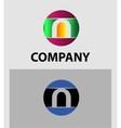 Set of letter N logo icons design template element vector image vector image