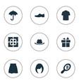 set simple wardrobe icons vector image