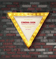 shining retro triangular light banner vector image