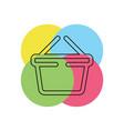 shopping basket icon - commercial shop button vector image vector image