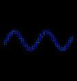 sinusoid wave halftone icon vector image vector image