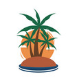 small island tropical palm trees travel island vector image vector image