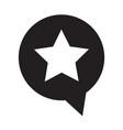 speech bubble star icon symbol design vector image