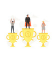 successful smiling young businessman and vector image vector image