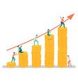 team business workers teamwork gaining money vector image vector image