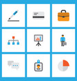 trade icons flat style set with contract vector image vector image