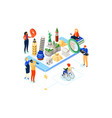 travel around world - colorful isometric vector image vector image