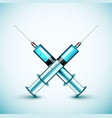 Two medical syringe vector image vector image