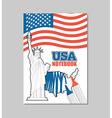 USA notebook American Covers for coloring booklet vector image vector image