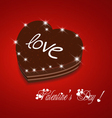 Valentine day be my sweet chocolate cake vector image vector image