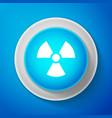 white radioactive icon radiation hazard symbol vector image vector image
