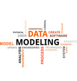 word cloud data modeling vector image vector image