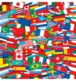 World Flags Background EPS10 Template vector image